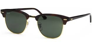 Ray-Ban RB 3016 W0366 Clubmaster Mock Tortoise   Green Crystal Lens 6a3c406ab4d9