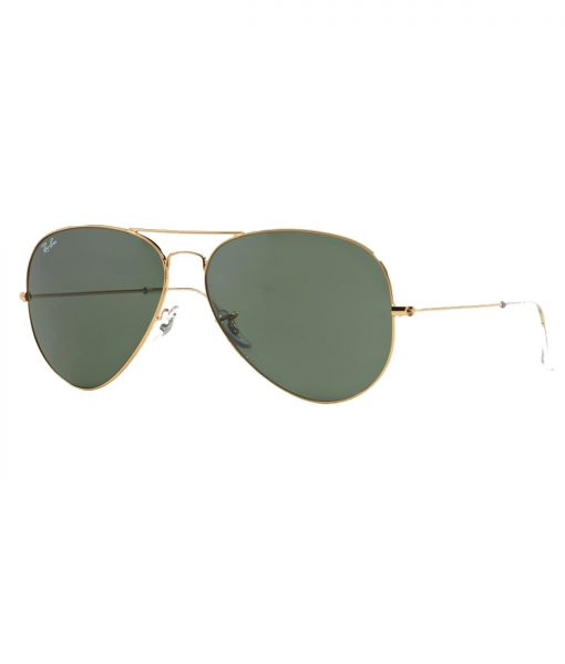 b50463c825 Ray Ban Aviator Gold Frame Green Lens Large Sunglasses RB 3026 ...