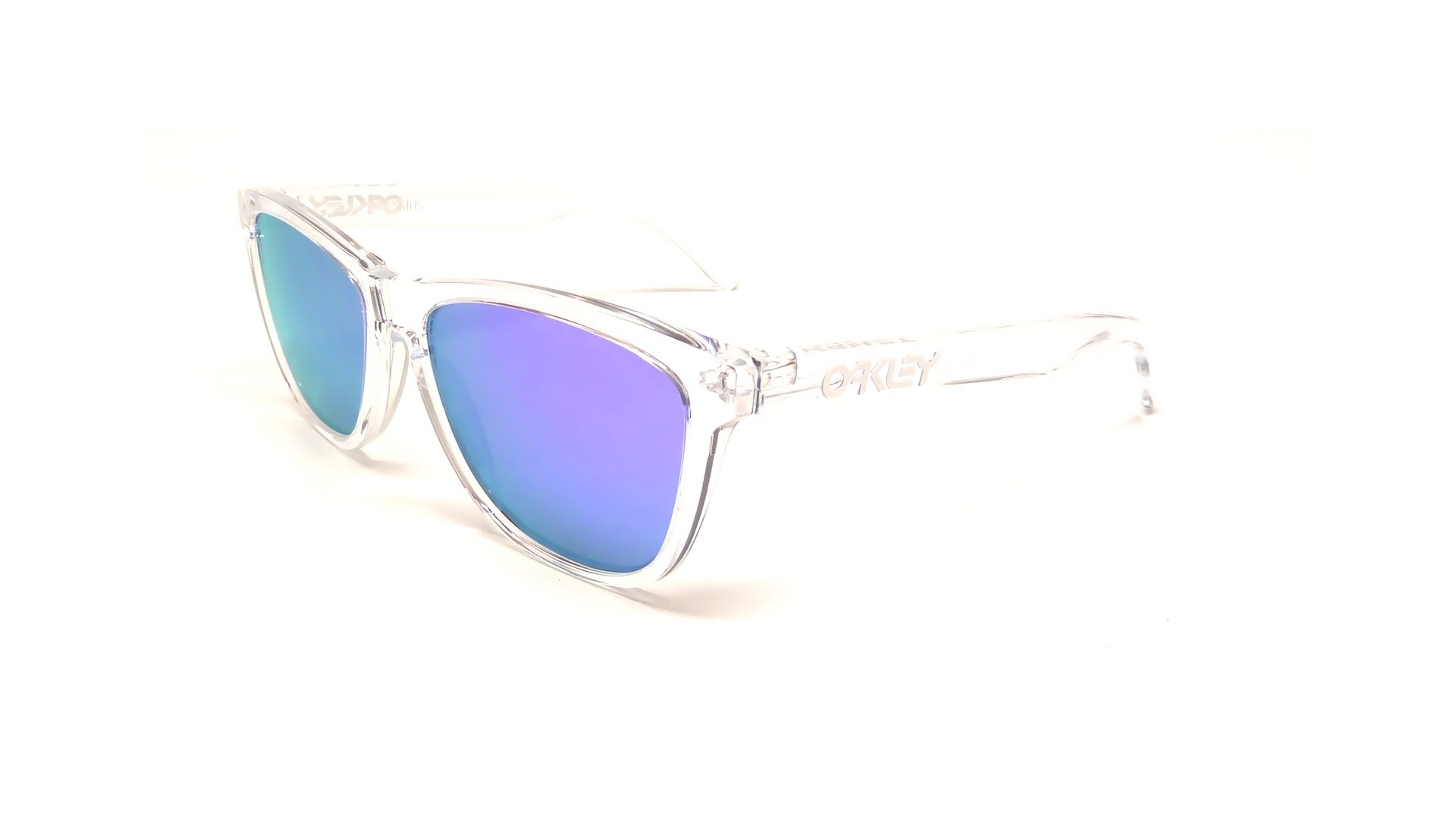 Clear Oakley Sunglasses  sunglasses frogskins polished clear violet iridium
