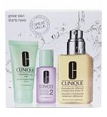 Clinique 3 Step Face Care Dry Combination Type 2 Moisturizing Lotion+Soap+Lotion Set